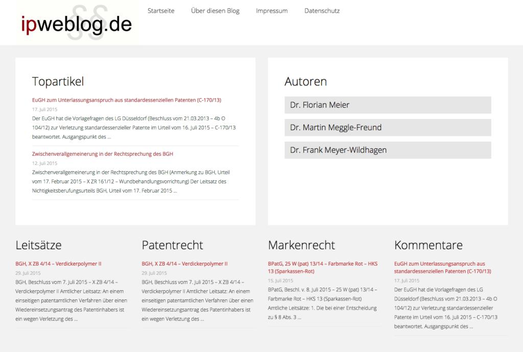 Screenshot ipwebblog